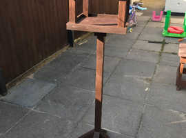 NEW hand made bird table with built in bird house