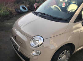 Fiat 500, 2013 (63) Beige Hatchback, Manual Petrol, 52,900 miles