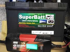 Super Batt 130ah Leisure Battery (As New Condition) - Caravan Motorhome Boat