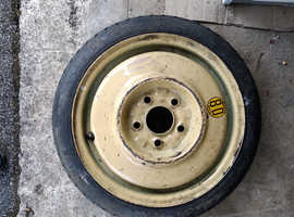 "Space saver spare wheel 15"" diameter rim + tyre, used"
