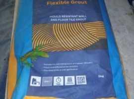 Grey/black Bostik tile grout 5kg bags. Fast dispatch