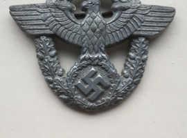 ww2 german police cap badge