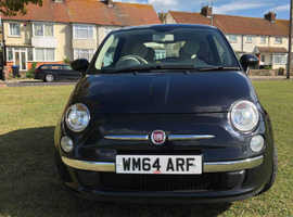 Fiat 500, 2015 (64) Black Hatchback, Manual Petrol, 36,000 miles