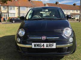 Fiat 500, 2015 (64) Black Hatchback, Manual Petrol, 38,000 miles