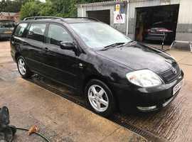 Toyota Corolla, 2004 (04) Black Estate, Manual Petrol, 113,000 miles, MOT Nov 2019