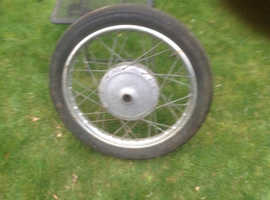 BSA. Triumph front and rearwheels