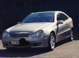 Mercedes C CLASS, 2006 (06) Silver Coupe, Automatic Diesel, 119,439 miles