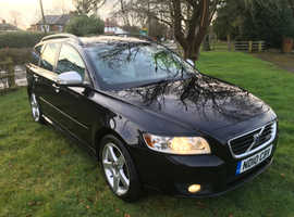 Volvo V50, 2010 (10) Black Estate, Manual Diesel, 141,000 miles