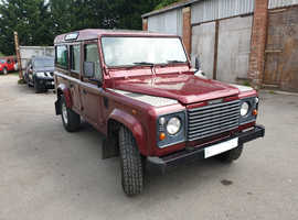 Land Rover 110, 2000 (X) Red 4x4, Manual Diesel, 125,000 miles