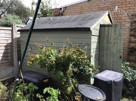 Garden wooden shed