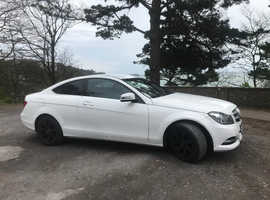 Mercedes C CLASS, 2014 (14) white coupe, Manual Diesel, 55,500 miles