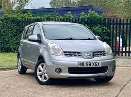 Nissan Note, 2008 (58) Silver MPV, Manual Petrol, 113,454 miles, LONG MOT JAN 2022