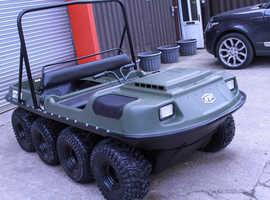 Argocat 8x8 Conquest ATV with car trailer