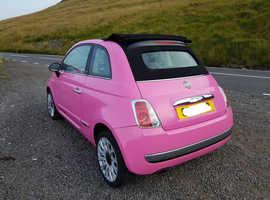 Fiat 500 pop 2010 (10) Pink Convertible, Manual Petrol, 41,450 miles