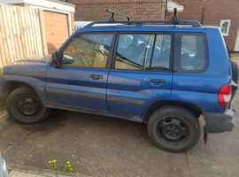 Mitsubishi Shogun Pinin, 2001 (X) Blue Estate, Manual Petrol, 99,000 miles