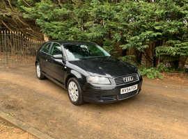 Audi A3, 2004 (54) Black Hatchback, Manual Petrol, 70,973 miles