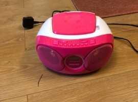 Pink CD player