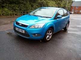 Ford Focus, 2008 (08) Blue Hatchback, Manual Petrol, 92,000 miles