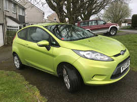 Ford Fiesta, 2010 (10) Green Hatchback, Manual Petrol, 75,000 miles