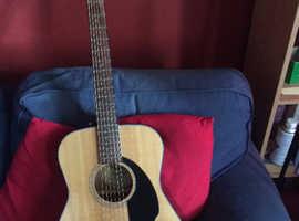 Fender hardtop acoustic guitar