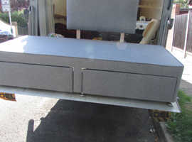 SINGLE BED BASE WITH DRAWERS AND HEADBOARD