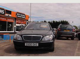 Mercedes S Class, 2005 (05) Black Saloon, Automatic Petrol, 94,000 miles