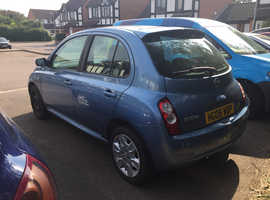 Nissan Micra, 2008 (08) Blue Hatchback, Manual Petrol, 107,544 miles