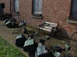 BARN CLEARANCE, Six petrol lawn mowers, etc