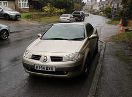 Renault Megane, 2005 (54) Gold Convertible, Manual Diesel, 53,432 miles