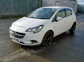 Vauxhall Corsa, 2015 (15) White Hatchback, Manual Petrol, 39,816 miles