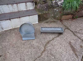 Galvanised Chicken Feeder and Drinker - Nr Newton Abbot