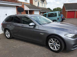 BMW 5 Series, 2014 (14) Grey Estate, Automatic Diesel, FSH, Leather Seats, Sat Nav, 9 months MOT