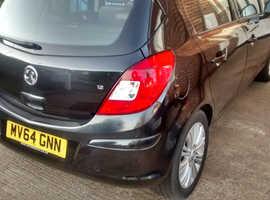 Vauxhall Corsa, 2015 (64) Black Hatchback, Manual Petrol, 34,780 miles