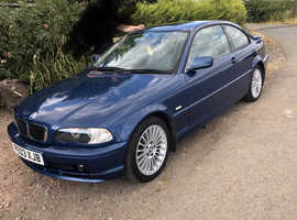BMW 3 Series, 2003 (03) Blue Coupe, Manual Petrol, 96,000 miles