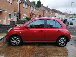 Nissan Micra, 2009 (09) red hatchback, Automatic Petrol, 33,000 miles