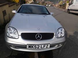 Mercedes Slk, 2002 (52) Silver Convertible, Automatic Petrol, 53,650 miles
