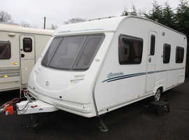 Sterling Europa 495 2008 4 Berth Fixed Bed Caravan + Full Awning