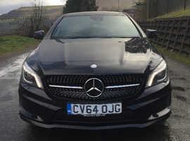 Mercedes CLA, 2014 (64) Black Saloon, Automatic Diesel, 28,500 miles