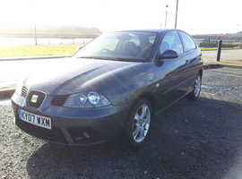 07 SEAT IBIZA 1400cc SPORT 3 DOOR LONG MOT, LOW ROAD TAX.