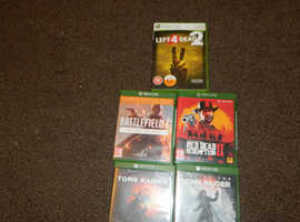 4 xbox one games and one xbox three sixty that plays in xbox one