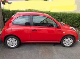 Nissan Micra, 2009 (09) Red Hatchback, Manual Diesel, 91,000 miles