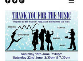 "The Springfield follies proudly presents ""Thank you for the music """