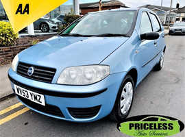 Fiat Punto, 2003 (53) Blue Hatchback, Manual Petrol, 90,760 miles