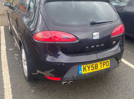 Seat Leon, 2008 (58) Black Hatchback, Manual Diesel, 115,000 miles