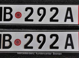 German Export Number Plates {2}