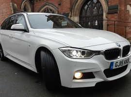 BMW 3 Series, 2015 (15) White Estate, Manual Diesel, 93,000 miles