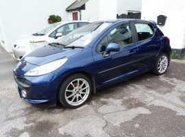 Peugeot 207, 2007 (07) Blue Hatchback, Manual Petrol, 94,000 miles