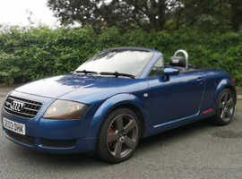 Audi TT, 2003 (03) Blue Convertible, Manual Petrol, 136,000 miles