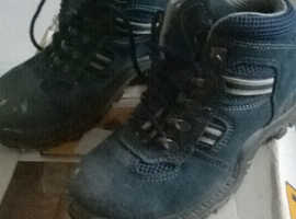 Womens size 3/36 walking/hiking/safety boots in blue