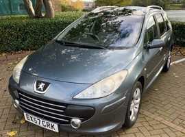 Peugeot 307, 2007 (57) Grey Hatchback, Manual Diesel, 74,500 miles